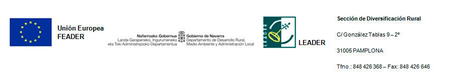 Unión Europea FEADER - Gobierno de Navarra - Leader